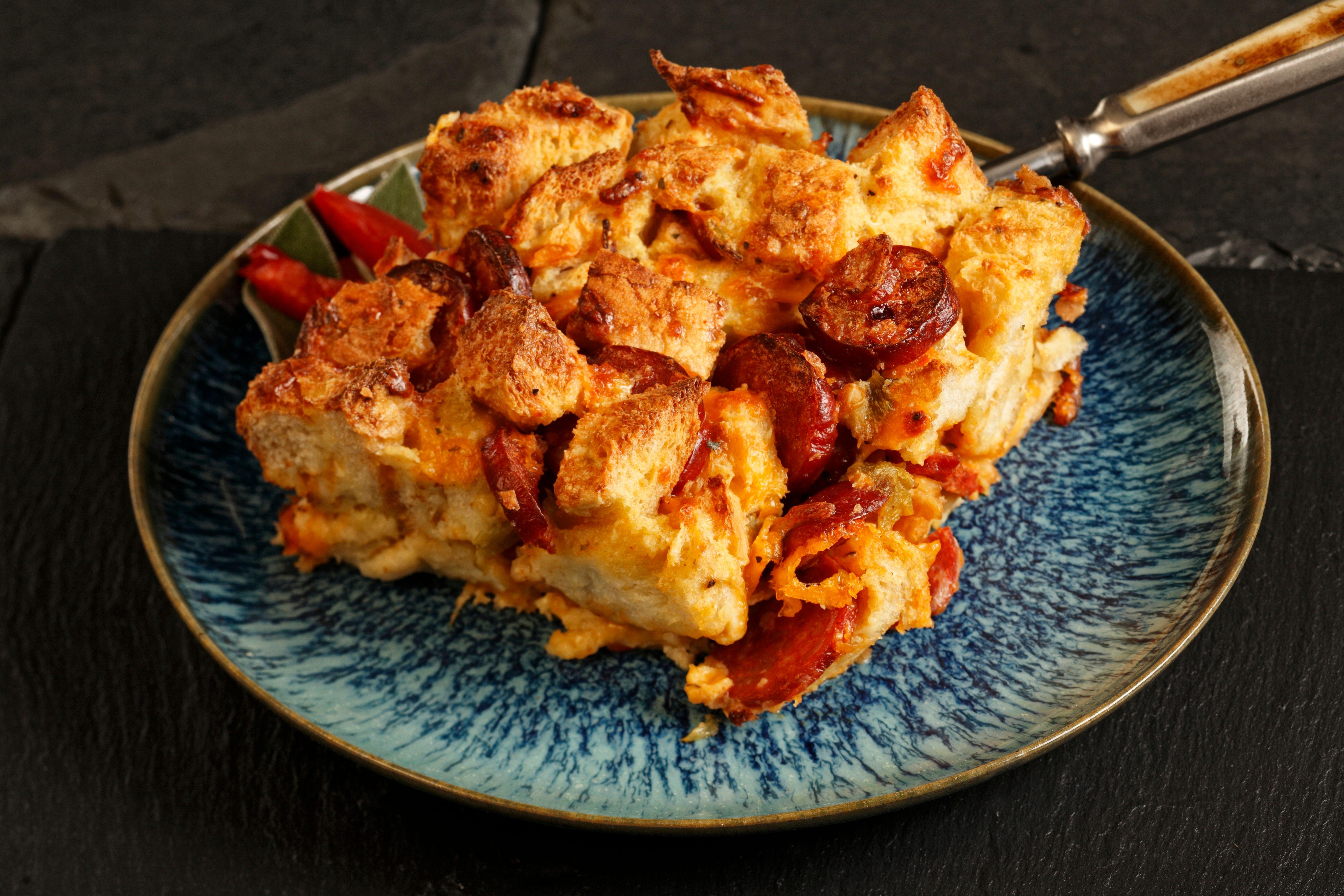 Chili Chorizo Strata Recipe Rich S Foodservice